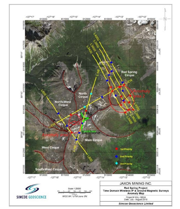 Jaxon Completes IP Survey at its Red Springs Project